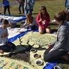 Student groups and academic departments expressed their creativity by painting banners to showcase their love and appreciation for trees during Earth Week at WFU.