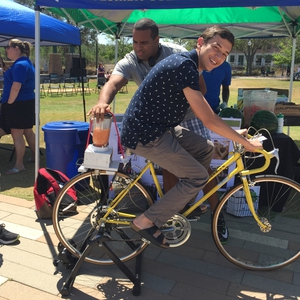 Bike-Powered Smoothie Maker