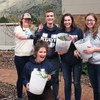 Students show their work at the USU permaculture garden