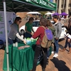 Student's sampled Organic Aloe Gloe, a new product on campus that students are excited about