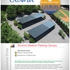 Solar panels on Shuford Stadium Parking Lot, Catawba College