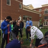 Volunteers from Athletics Department Plant a Tree