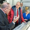 Prince Albert II of Monaco Touring Ohio State's Byrd Polar and Climate Research Center, with world-renowned scientists Lonnie Thompson and Ellen Mosley Thompson.