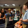 The first Green Labs Resource Fair showcased environmentally conscious products and services to UVA's research staff.