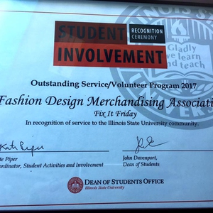 Fix It Friday Award for Illinois State University Outstanding Service/Volunteer Program