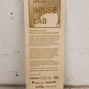 Interpretive Signage for Bee House Lab