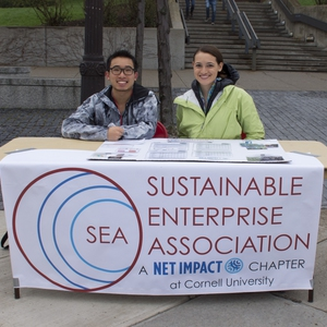 Student club Sustainable Enterprise Association-Net Impact Chapter-tables at Springfest