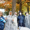 Lehigh students pose after completing the waste audit for Campus Sustainability Day