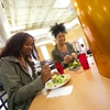 UMD students enjoying salads