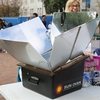 Students made s'mores in a solar oven