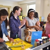 Campus Kitchen, the Office of Wellbeing, and the Office of Sustainability joined forces to host a unique cooking class featuring food that might normally go to waste.
