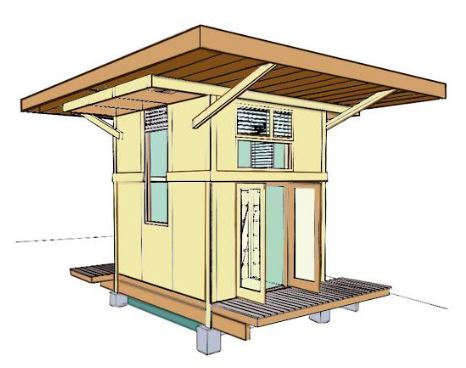 Tiny House Concept kauai community college tiny house hydro electric micro grid project