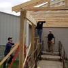 Kent State University College of Architecture and Environmental Design Construction Management Student Organization raised $4000 of the $5000 needed to build a shelter entrance at the Phyllis Zumkehr County Clothing Center. With help from faculty advisor, Joe Karpinski, and Metis Construction, the team of Construction Management students were able to finish most of the labor in April 2019.
