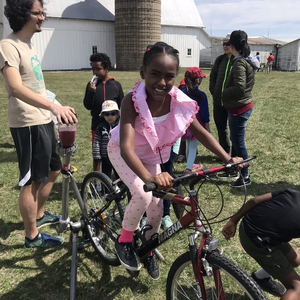 Making Bike Powered Smoothies on Earth Day