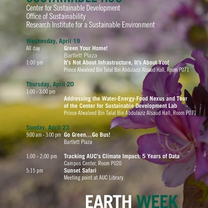 Sustainable AUC - Earth Week April 19 , 23