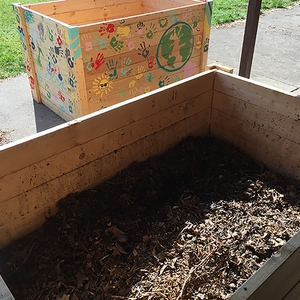University of Dayton Composting Bins
