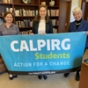 Chief Sustainability & Carbon Solutions Officer Kira Stoll, Plastic-Free Seas Coordinator Nicole Haynes, and Chancellor Carol Christ at the meeting where this policy was endorsed.