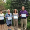 Earth Day Award Recipients - Our student, faculty, and staff award winners! From left to right:  Ivy Coble, Dara Middleton, Dr. Joy O'Keefe, and Dr. Jim Speer  These four people have worked so diligently to ensure the campus and community keeps striving to be the best version of itself.