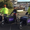 UW Mailing Services delivery drivers and the electric-assist cargo bikes.