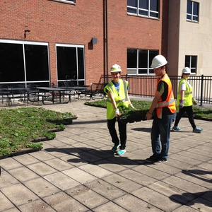 University of Dayton Green Roof Installation
