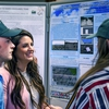 Sul Ross students confer over research posters