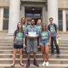 Colorado State students deliver more than 4,000 signatures to the President's Office as part of the Climate Reality campaign.