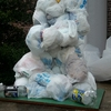 Ceation of recycled plastic sculptures by student: Picture 2