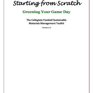 Starting from Scratch: Greening Your Game Day