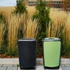 Mohawk College campuses feature two-stream waste receptacles throughout grounds and outdoor spaces to encourage recycling.