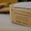 The Campus Sustainability Leadership Award is made of reclaimed materials and designed by students.