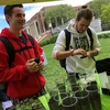 Students make their own succulents at the University of Minnesota Earth Day Fair