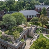 Aerial view of Mellon Hall green roof