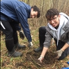 The Blouin Brothers (Kiernan and Cylan) bonding as they plant another seedling