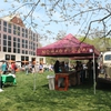Princeton University Celebrates Earth Day with Nomad Pizza's food truck, which sources local and organic ingredients.