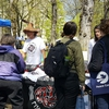 Students in PSU's Environmental Club partnered with campus and community organizations to host a festival in PSU's Park Blocks on Friday, April 21st. The event featured free tea and local pizza, dozens of booths, and a one week old baby goat!