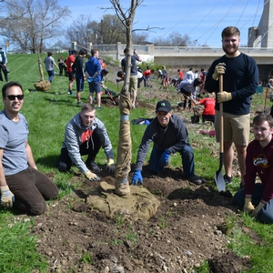 "Ohio State's ""Seeds of Service"" brought out hundreds to clean, plant and celebrate"