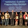 Recognition of the team members that spearheaded the Satisfactory Academic Progress Policy Revision during the 2016 FIU Service & Recognition Awards Ceremony.