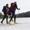 Cross country skiing is one of many uses of the lands conserved by Middlebury College