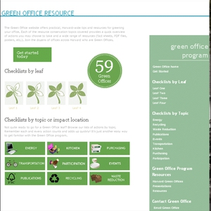 Harvard Green Office Program