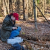 Environmental Studies Student Collecting Lead Litter in Nature Preserve