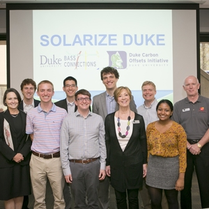 Duke University Carbon Offsets Initiative - Working with students, staff, and faculty to reduce GHG emissions through rooftop solar