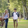 Students often bike, skateboard, and walk to classes at Pomona College or one of the other Claremont Colleges.