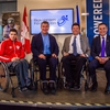 Rick Hansen announcing the Rick Hansen Foundation Accessibility Certification™ Program (RHFAC) at NSCC.