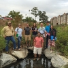 The stream restoration project is ideal for interdisciplinary, active learning and using campus as a living laboratory