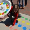 Elon Student Patrick Larsen enjoys Waste Reduction Twister