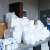 A UT Green Labs Team Member Coordinating a Styrofoam Recycling Day