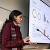 Clean Energy Corps student presents findings