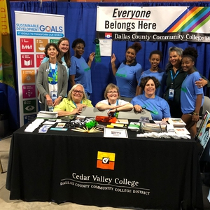 The Dallas County Community College District Booth Won an Award at EarthX!