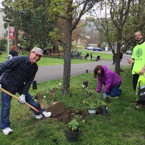 SOU Students Celebrating Arbor Day