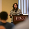 Elon University President Connie Ledoux Book discusses the importance of mental wellness at a two-day Mental Health Summit that marked the launch of the Act-Belong-Commit framework at the university.